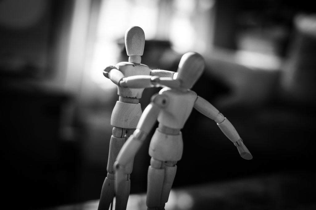Part of a series of concept photos I took during lockdown using drawing mannequins. Violence between humans.